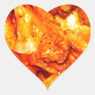 Spicy Hot Wings Heart Sticker