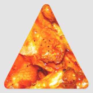 Spicy Hot Wings Triangle Sticker