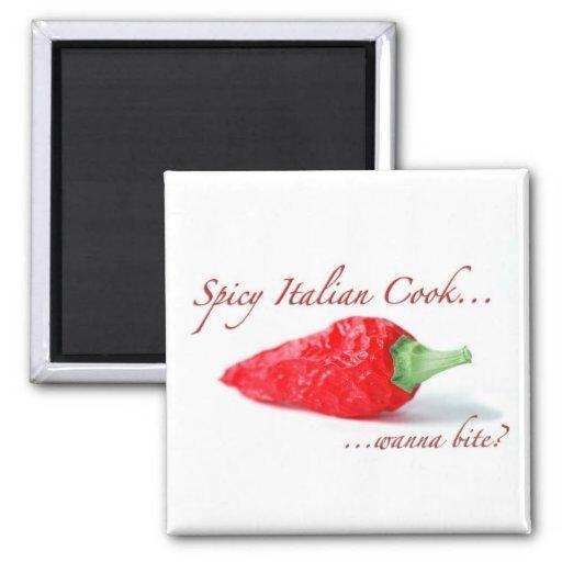 Spicy Italian Cook Magnet