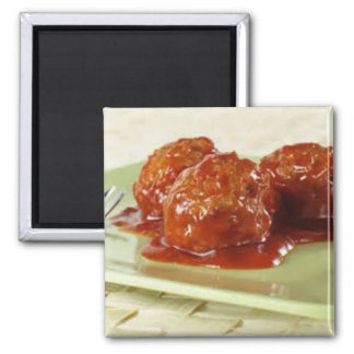 Spicy Meatball Bites 2 Inch Square Magnet