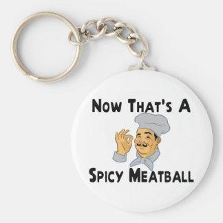 Spicy Meatball Keychain