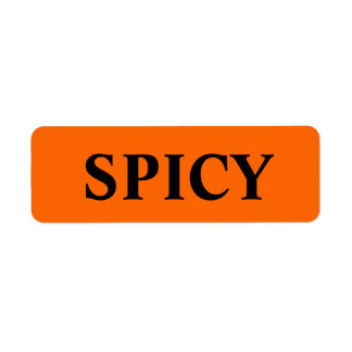 Spicy Merchandise tags Label