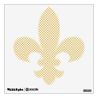 Spicy Mustard Polka Dots Wall Decal