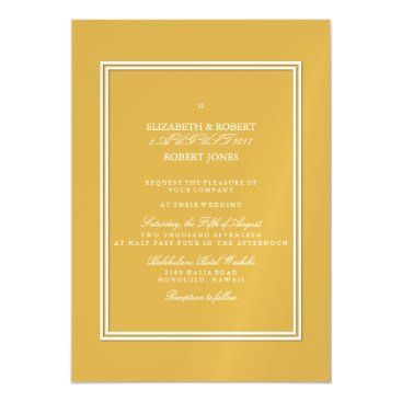 Beach Themed Spicy Mustard with White Wedding Detail Magnetic Card