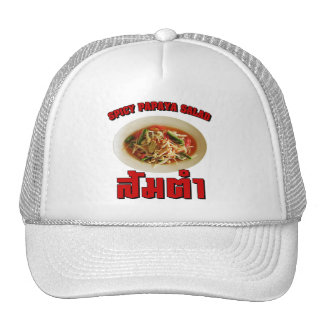 Spicy Papaya Salad [Som Tam] ... Thai Lao Food Trucker Hats
