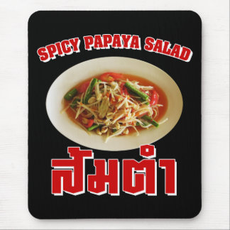 Spicy Papaya Salad [Som Tam] ... Thai Lao Food Mouse Pad