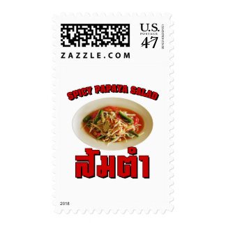 Spicy Papaya Salad [Som Tam] ... Thai Lao Food Postage Stamp