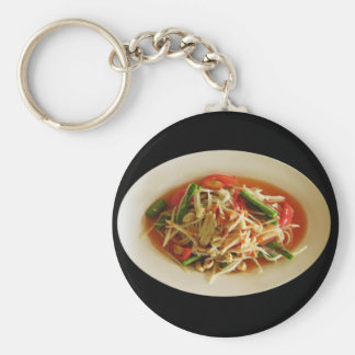Spicy Papaya Salad [Som Tam] Thai Street Food Keychain