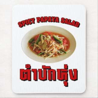 Spicy Papaya Salad [Tam Mak Hung] Isaan Dialect Mouse Pad