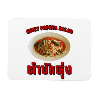 Spicy Papaya Salad Tam Mak Hung Isaan Dialect Rectangle Magnet