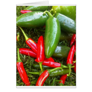 Spicy Peppers Card