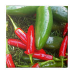 Spicy Peppers Ceramic Tiles