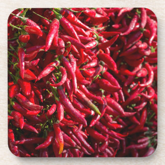 Spicy Red Chili In The Town Of Kalocsa Beverage Coaster