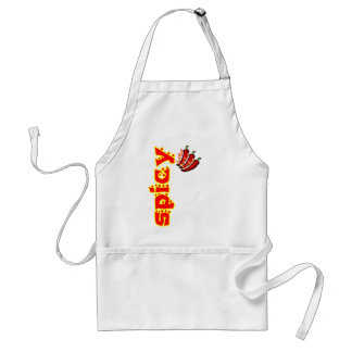 Spicy Red Hot Flaming Chili Peppers Aprons