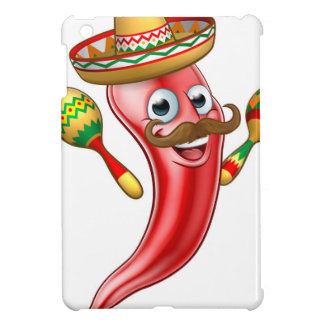 Spicy Red Pepper Mexican Mascot Cover For The iPad Mini