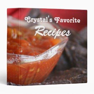 Spicy Salsa Favorite Recipe Vinyl Binders