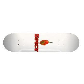 Spicy Single Habanero Hot Pepper Design Skateboard Deck