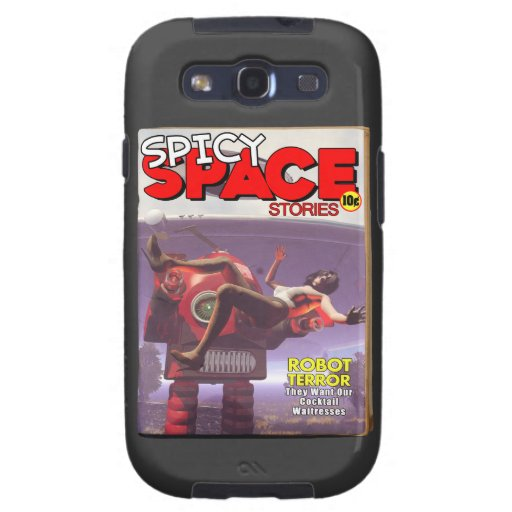 Spicy Space Stories Fake Pulp Cover Samsung Galaxy SIII Cases