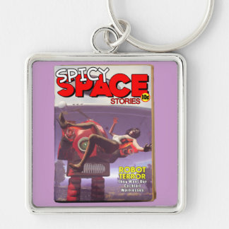 Spicy Space Stories Fake Pulp Cover Keychain