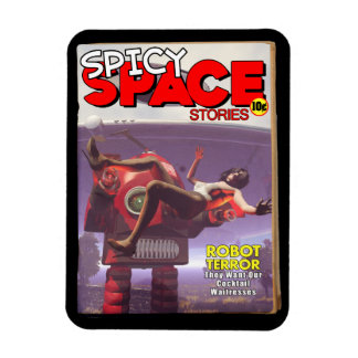 Spicy Space Stories Fake Pulp Cover Magnet