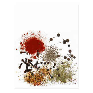 Spicy spices foodie top chef photo graphic post card