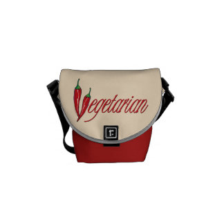 Spicy Vegetarian Courier Bag