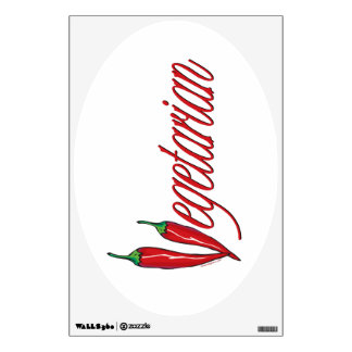 Spicy Vegetarian Wall Decal
