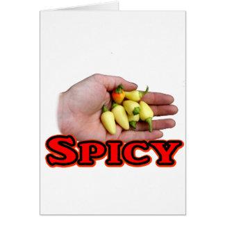 Spicy White Habanero Hot Pepper Design Card