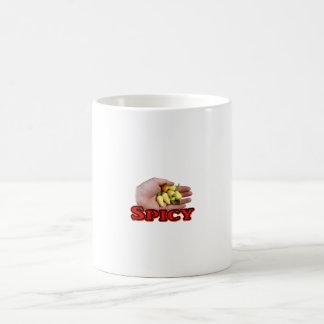 Spicy White Habanero Hot Pepper Design Coffee Mug