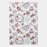 Spicy Winter Theme Pattern Towels