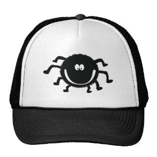spider001_92007 HAPPY LITTLE BLACK ORANGE SPIDER C Trucker Hat