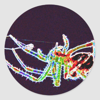 spider 1a classic round sticker