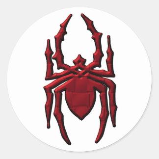 Spider 2 round stickers