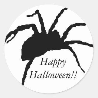Spider 4-2010, Happy Halloween!! Round Sticker