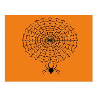 Spider and cobweb postcard