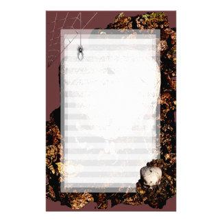 Spider and Skull Stationery