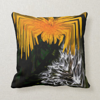Spider and the Thistle Throw Pillow