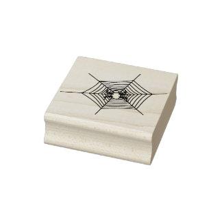 Spider and web 3 illustration art stamp