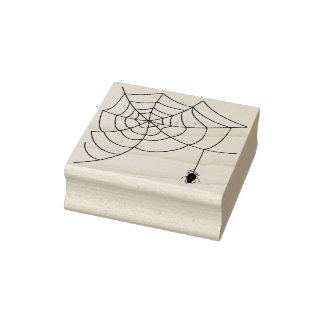 Spider and web 5 illustration art stamp