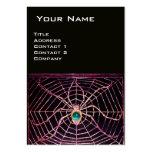 SPIDER AND WEB Blue Aquamarine Black Business Card Templates