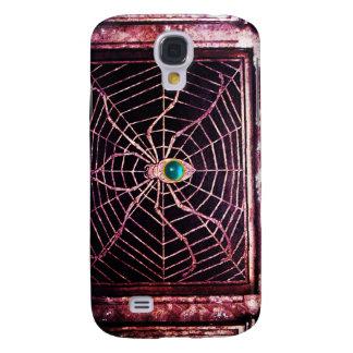 SPIDER AND WEB Blue Aquamarine Black Galaxy S4 Case
