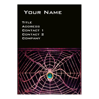 SPIDER AND WEB Blue Aquamarine Black Large Business Cards (Pack Of 100)