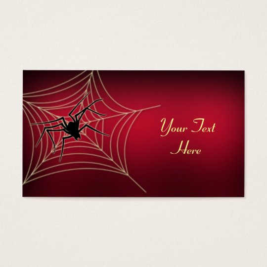Spider and Web Business Card