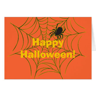 Spider and Web Card