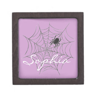 Spider and Web Gift Box
