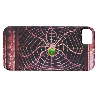 SPIDER AND WEB Green Emerald Black iPhone SE/5/5s Case