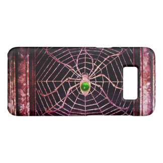 SPIDER AND WEB Green Emerald Gem Black Case-Mate Samsung Galaxy S8 Case