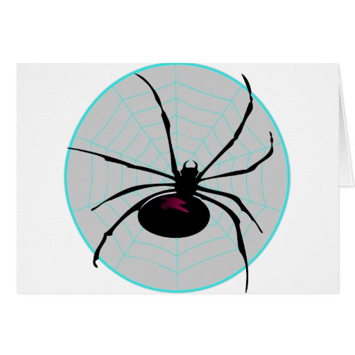 Spider and Web Greeting Card