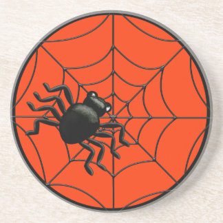 Spider and Web Halloween Coaster
