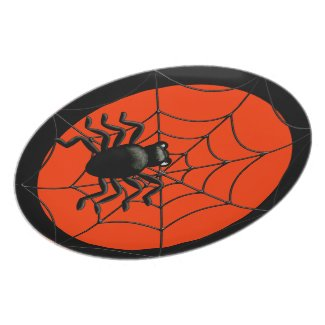 Spider and Web Halloween Party Plates
